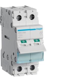 SBN299 Modułowy rozłącznik izolacyjny 2P 125A 400VAC Hager