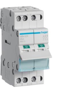 SBN325 Modułowy rozłącznik izolacyjny 3P 25A 400VAC Hager
