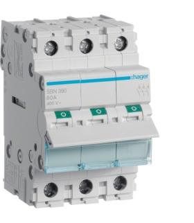 SBN390 Modułowy rozłącznik izolacyjny 3P 100A 400VAC Hager