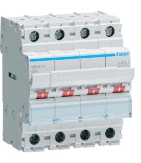 SBN440 Modułowy rozłącznik izolacyjny 4P 40A 400VAC Hager