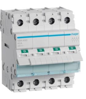 SBN480 Modułowy rozłącznik izolacyjny 4P 80A 400VAC Hager