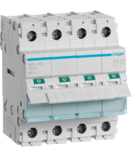 SBN490 Modułowy rozłącznik izolacyjny 4P 100A 400VAC Hager