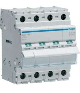 SBN499 Modułowy rozłącznik izolacyjny 4P 125A 400VAC Hager