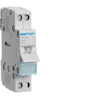 SFB116 Modułowy przełącznik instalacyjny I-0-II punkt wspólny od dołu 1P 16A 230VAC  Hager