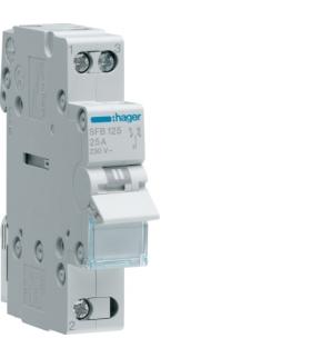 SFB125 Modułowy przełącznik instalacyjny I-0-II punkt wspólny od dołu 1P 25A 230VAC  Hager