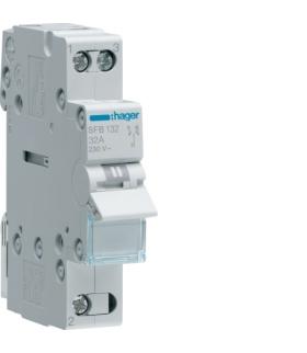 SFB132 Modułowy przełącznik instalacyjny I-0-II punkt wspólny od dołu 1P 32A 230VAC  Hager