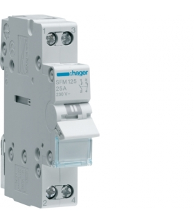 SFM125 Modułowy przełącznik instalacyjny I-II 2-obwodowy 1NO+1NC 25A 230VAC Hager