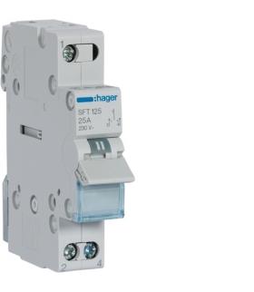 SFT125 Modułowy przełącznik instalacyjny I-0-II punkt wspólny od góry 1P 25A 230VAC  Hager