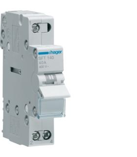 SFT140 Modułowy przełącznik instalacyjny I-0-II punkt wspólny od góry 1P 40A 230VAC  Hager