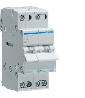 SFT240 Modułowy przełącznik instalacyjny I-0-II punkt wspólny od góry 2P 40A 230VAC  Hager