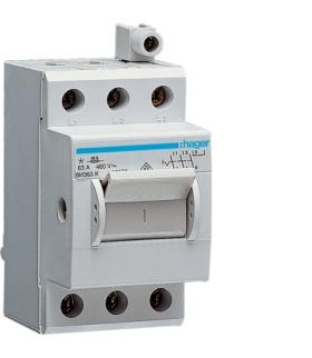 SH363K Modułowy rozłącznik izolacyjny w obudowie kompaktowej 3P 63A 400VAC zac.dod. Hager