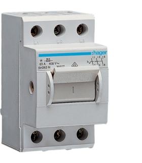 SH363N Modułowy rozłącznik izolacyjny w obudowie kompaktowej 3P 63A 400VAC Hager