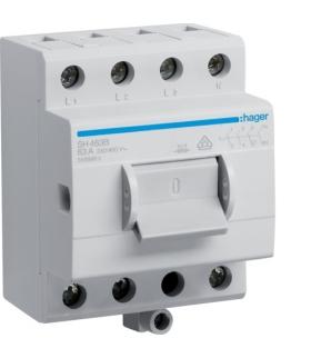 SH463B Modułowy rozłącznik izolacyjny w obudowie kompaktowej 4P 63A 400VAC zac.dod. Hager