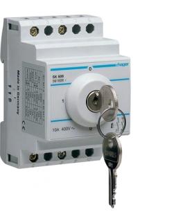 SK606 Łącznik kluczykowy 2P I-O-II-O 10A 400V  Hager