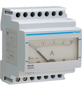 SM030 Amperomierz analogowy bezpośredni 0-30A Hager