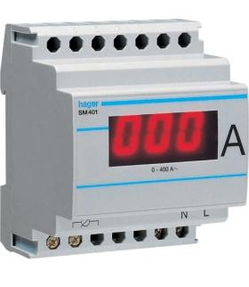 SM401 Amperomierz cyfrowy przekładnikowy 0-400A Hager