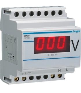 SM501 Woltomierz cyfrowy bezpośredni 0-500V Hager