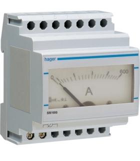 SM600 Amperomierz analogowy przekładnikowy 0-600A Hager