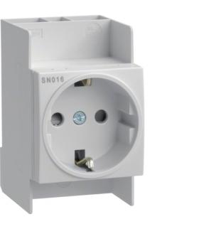 SN016 Gniazdo na szynę Schuko 230VAC 10/16A Hager