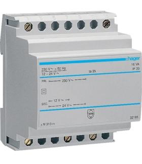 ST313 Transformator bezpieczeństwa 230/12-24VAC 16VA Hager