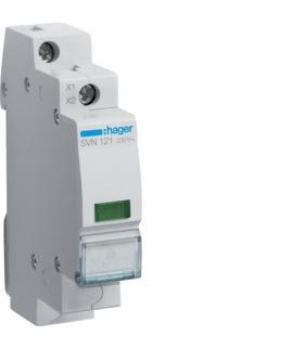 SVN121 Lampka sygnalizacyjna LED zielona 230VAC  Hager