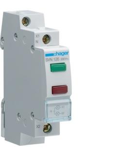 SVN126 Lampka sygnalizacyjna LED zielona+czerwona 230VAC  Hager