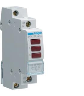 SVN127 Lampka sygnalizacyjna LED 3x czerwona 230VAC  Hager