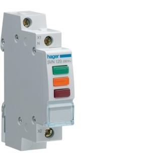 SVN129 Lampka sygnalizacyjna LED czerwona+zielona+pomarańczowa 230VAC  Hager