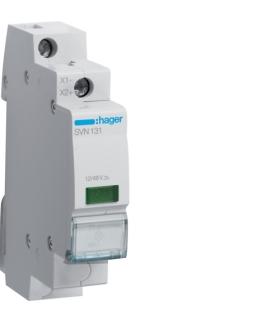 SVN131 Lampka sygnalizacyjna LED zielona 12-48VAC/DC  Hager