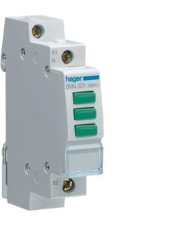 SVN221 Lampka sygnalizacyjna LED 3x zielona 230VAC  Hager