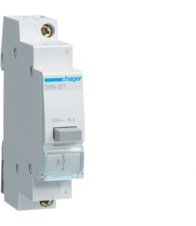 SVN321 Przycisk sterowniczy 1NC Ith 16A 230VAC Hager