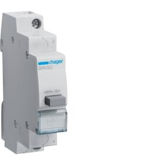 SVN322 Przełącznik przyciskowy 1NC Ith 16A 230VAC Hager