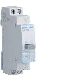 SVN332 Przełącznik przyciskowy 2NO Ith 16A 230VAC Hager
