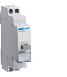 SVN342 Przełącznik przyciskowy 2NC Ith 16A 230VAC Hager