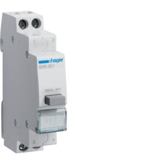 SVN351 Przycisk sterowniczy 1NO+1NC Ith 16A 230VAC Hager