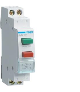 SVN371 Przycisk sterowniczy 2x 1NO zielony i czerwony Ith 16A 230VAC Hager