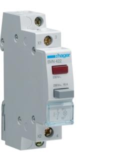 SVN422 Przycisk sterowniczy 1NC LED czerwona Ith 16A 230VAC Hager