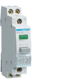 SVN441 Przycisk sterowniczy 2NC LED zielona Ith 16A 230VAC Hager