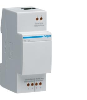 TN121 Modułowy filtr/rozdzielacz sygnału ADSL  Hager