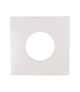 B.Kwadrat Płytka czołowa do łącznika i sygnalizatora świetlnego E10, biały, połysk Berker 5311248989