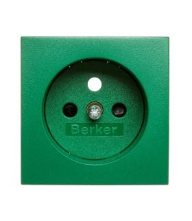 B.3/B.7 Płytka czołowa z przysłonami styków do gniazda z uziemieniem, zielony Berker 3965760063