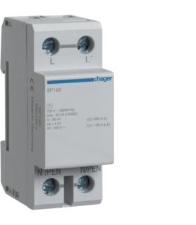 SP120 SPD Ogranicznik przepięć T1 1P sieć TN/TT Iimp 50kA Up≤ 4kV Hager