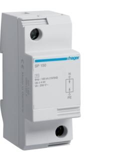 SP150 SPD Ogranicznik przepięć T1 1P N-PE sieć TT Iimp 100kA Up≤1,5kV Hager