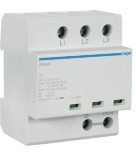 SPA400 SPD Ogranicznik przepięć T1 kombinowany 3P TN-C Iimp 37,5kA Up≤1,5kV Hager