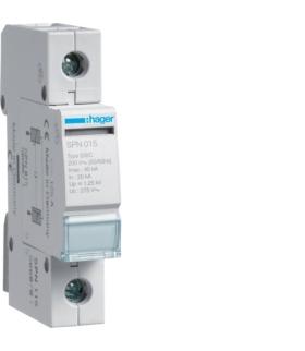 SPN115 SPD Ogranicznik przepięć T2 1P sieć TN/TT In 20kA Up≤1,25kV Hager