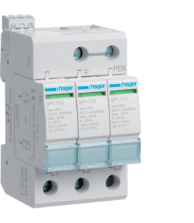 SPN317 SPD Ogranicznik przepięć T2 3P sieć TN-C In 20kA Up≤1,25kV styk FM Hager
