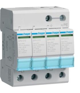 SPN415 SPD Ogranicznik przepięć T2 4P sieć TN-S In 20kA Up≤1,25kV Hager