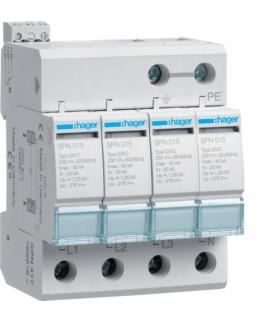 SPN417 SPD Ogranicznik przepięć T2 4P sieć TN-S In 20kA Up≤1,25kV styk FM Hager