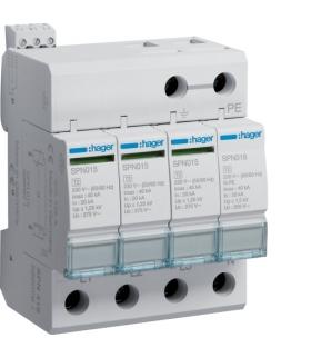 SPN419 SPD Ogranicznik przepięć T2 4P sieć TN-S/TT In 20kA Up≤1,25kV styk FM Hager