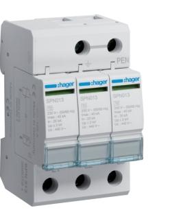 SPN513 SPD Ogranicznik przepięć T2 3P sieć IT In 20kA Up≤2kV Hager